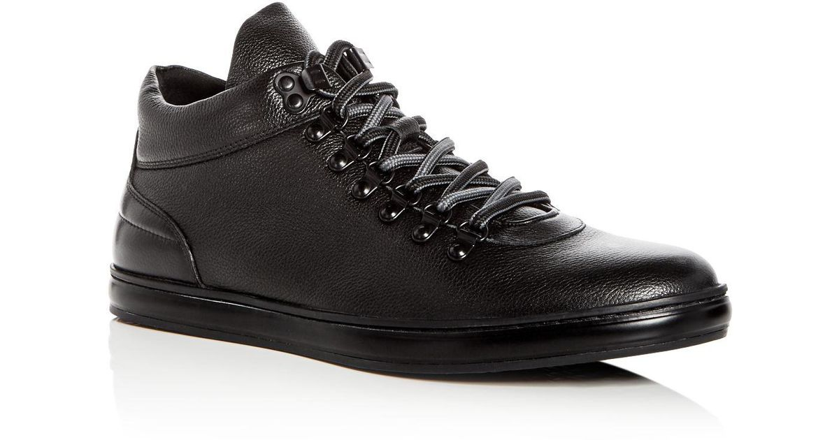Kenneth Cole Men's Brand Tour Leather Mid Top Sneakers 6aUDq