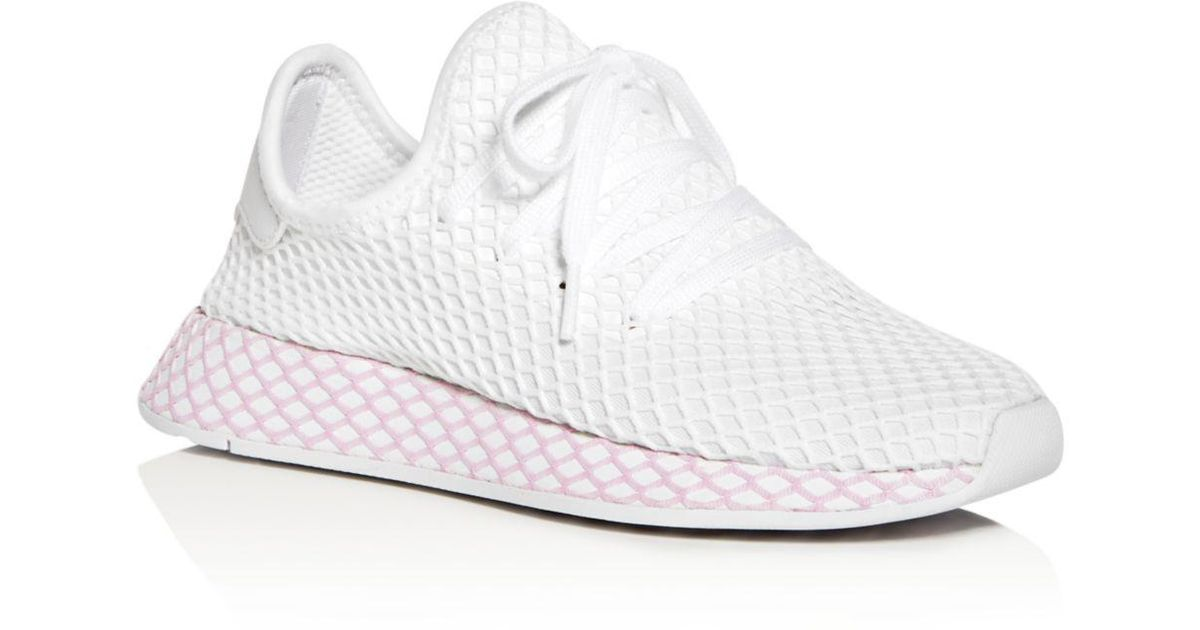 adidas net shoes white and pink