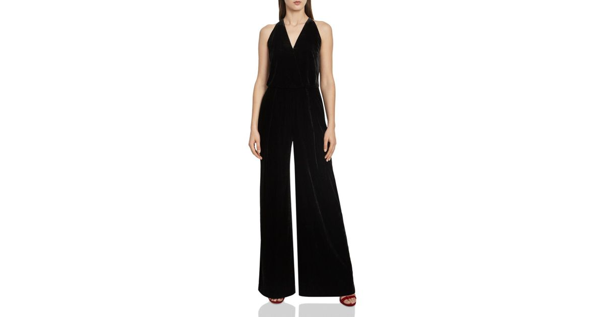 9ffdc0fafd3 Lyst - Reiss Hailie Velvet Jumpsuit in Black