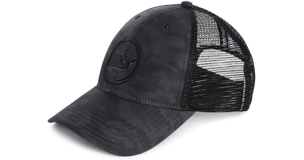 03438ab8 Vineyard Vines Camouflage Trucker Hat in Black for Men - Lyst