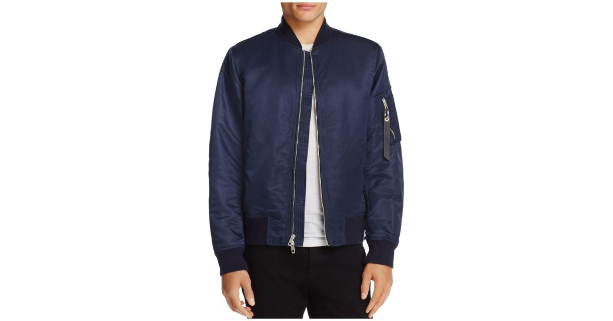 2ce709886 Rag & Bone Blue Manston Nylon Bomber Jacket for men