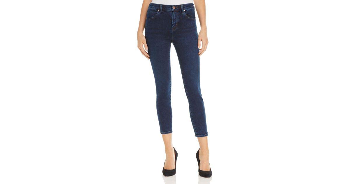 029f83f0d966 Lyst - J Brand Alana High Rise Crop Jeans In Throne in Blue