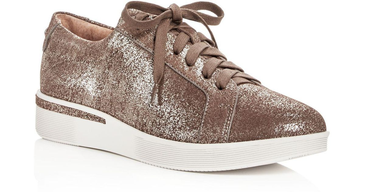 Haddie Leather Lace Up Sneakers