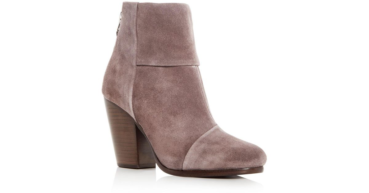RAG&BONE Women's Harrow Waxed Leather Cap Toe High-Heel Booties 8P3q0b4M