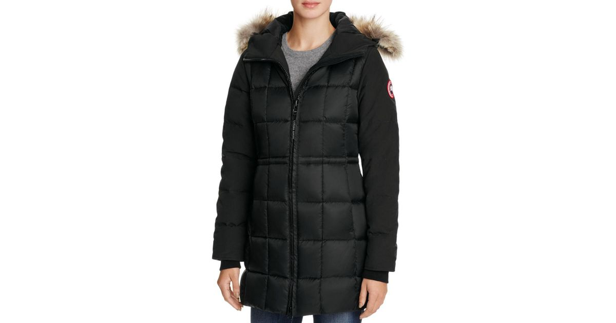 5200001cc0c9 Canada Goose Beechwood Coyote Fur Trimmed Parka in Black - Lyst