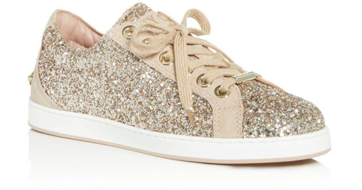 Jimmy choo sneaker miami beige luxus damen schuhe