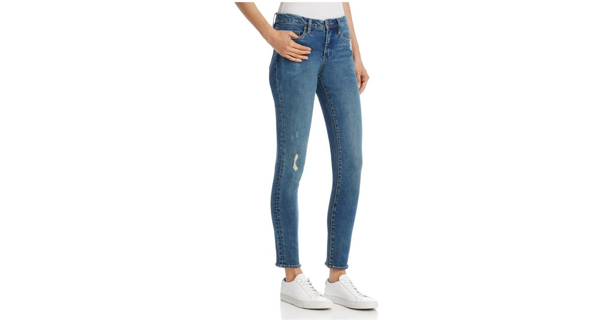 6f5c5a112e08 Lyst - Blank NYC Distressed Skinny Jeans In Mind Games in Blue