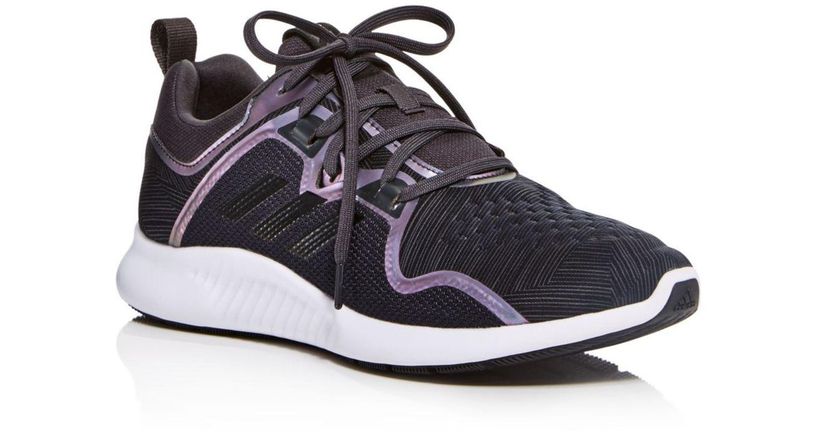 purchase cheap 1a979 4fd51 Lyst - adidas Womens Edge Bounce Lace Up Sneakers in Black