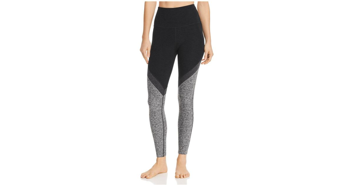 b5e81348d3 Lyst - Beyond Yoga Color-block Space-dye Leggings in Black