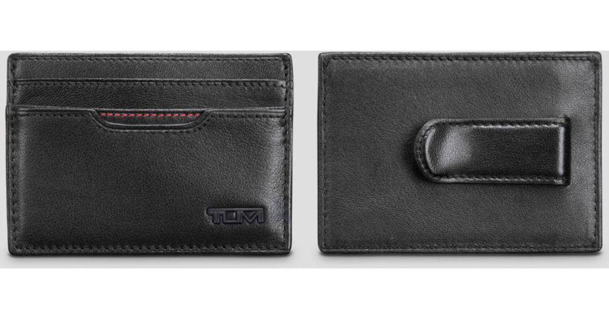 df0029440eaae2 Tumi Rfid Delta Money Clip Card Case in Black for Men - Lyst