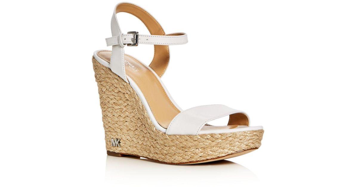635e9066d6e MICHAEL Michael Kors Multicolor Jill Espadrille Wedge Sandals