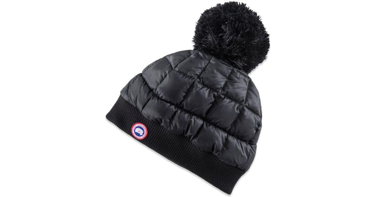 c08ad1ef Canada Goose Black Down Pom Toque Hat