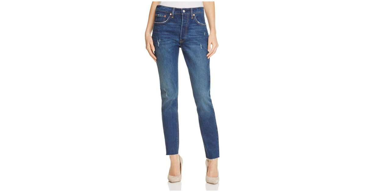 58a25b2e9a662 Lyst - Levi s 501® High Rise Skinny Jeans In Song Forever in Blue