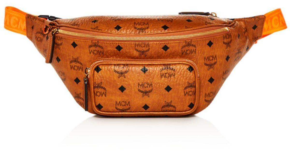 e81af26f2991c MCM Men's Medium Fursten Visetos Belt Bag in Orange for Men - Lyst