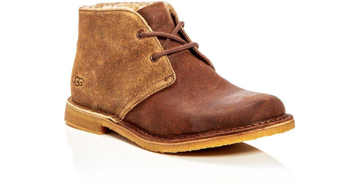 251566e983b Ugg Brown Leighton Bomber Desert Boots for men