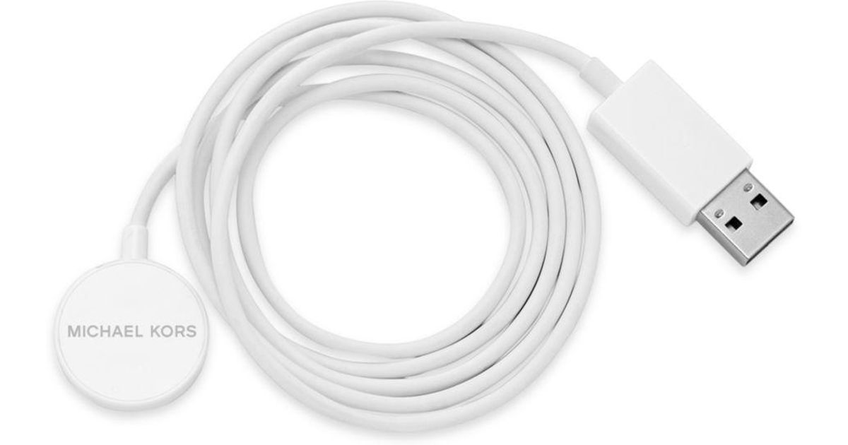 39359a4eee7b Lyst - Michael Kors Smartwatch Charger in White - Save 17%
