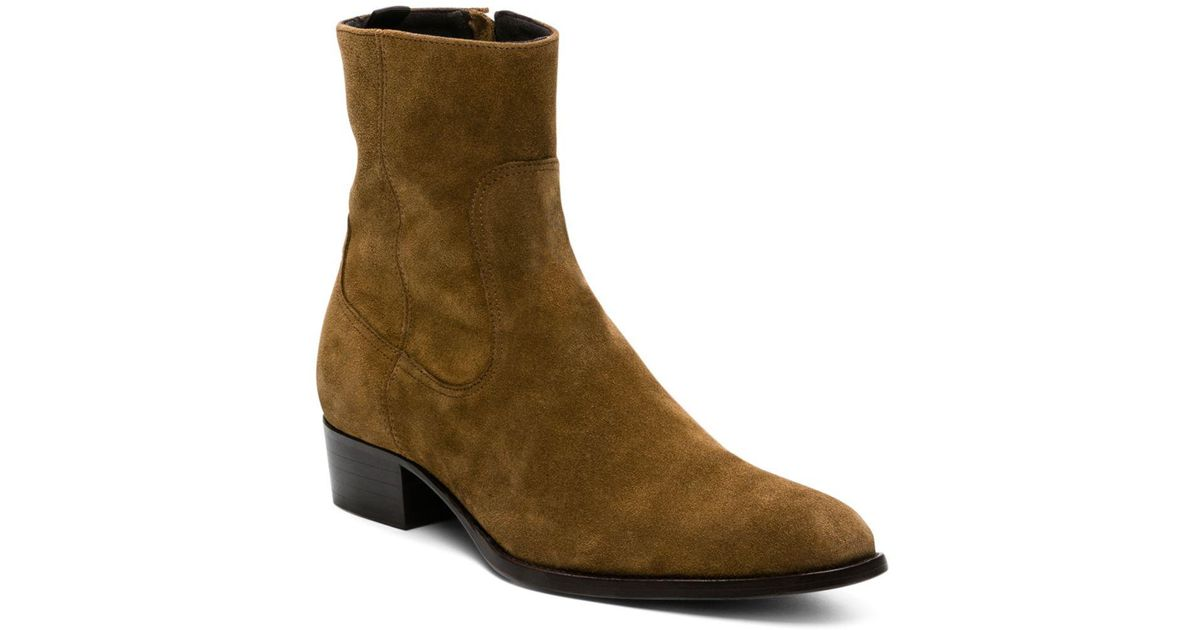 1e0f751d57 The Kooples Men's Suede Almond-toe Boots in Brown for Men - Lyst