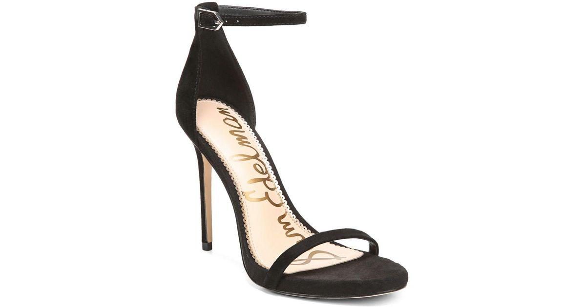 6cec9abe1e3 Lyst - Sam Edelman Ariella Ankle Strap Sandal in Black - Save 67%