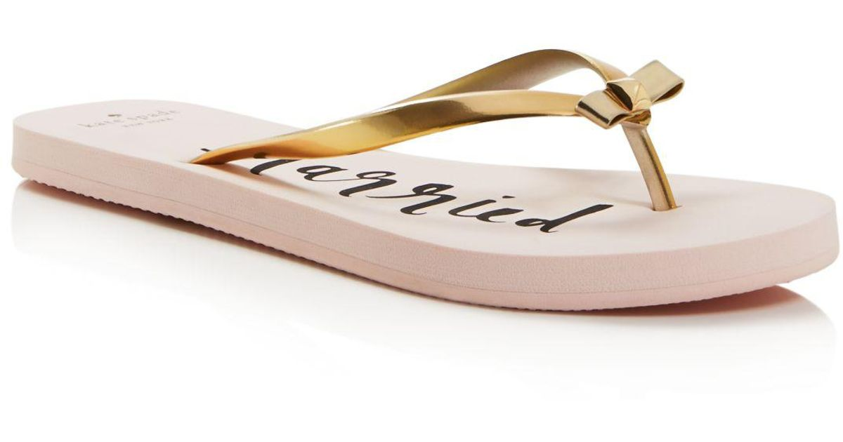 421b47a45cdc Lyst - Kate Spade Nadine Just Married Flip-flops in Pink