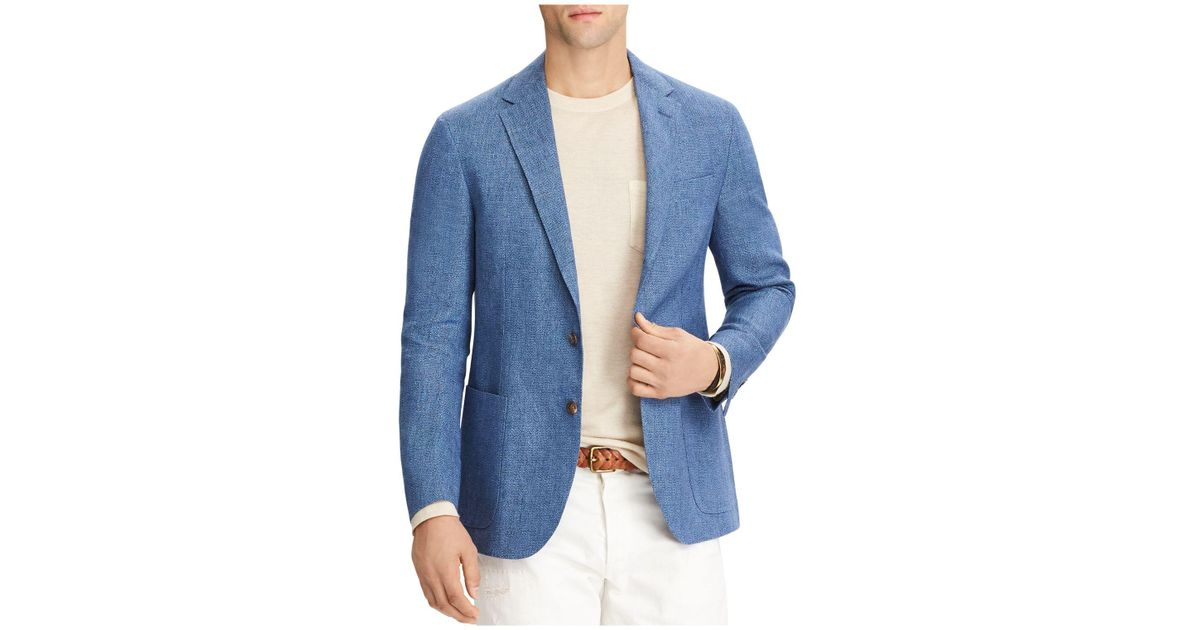 4f397450 Polo Ralph Lauren Blue Morgan Linen Slim Fit Sport Jacket for men