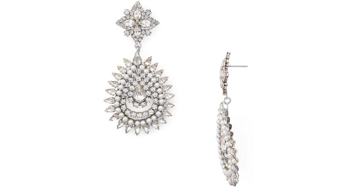 4502159d00144 DANNIJO Metallic Lea Pavé Starburst Drop Earrings