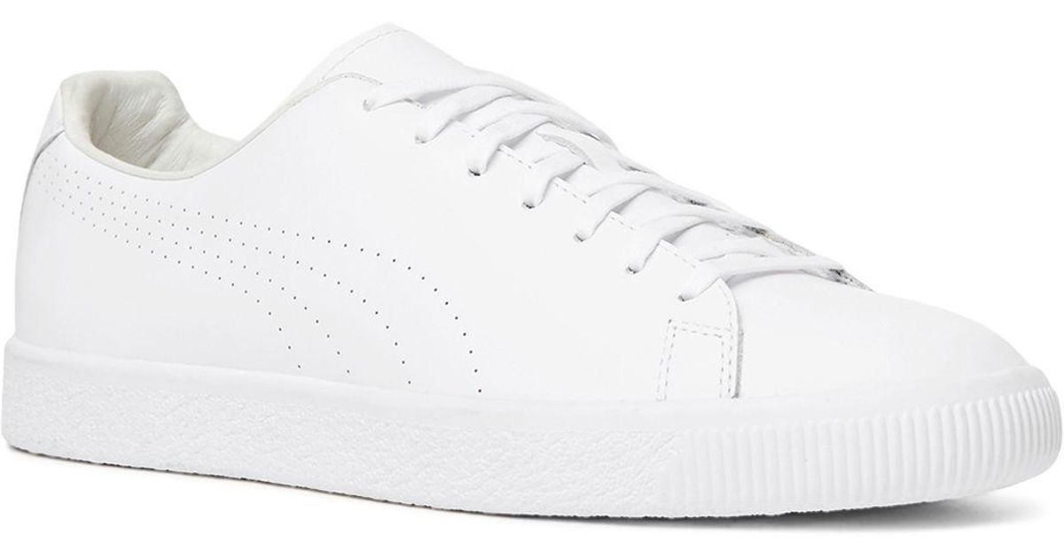 online store c2c56 bb3d1 The Kooples White X Puma Clyde Lace Up Sneakers