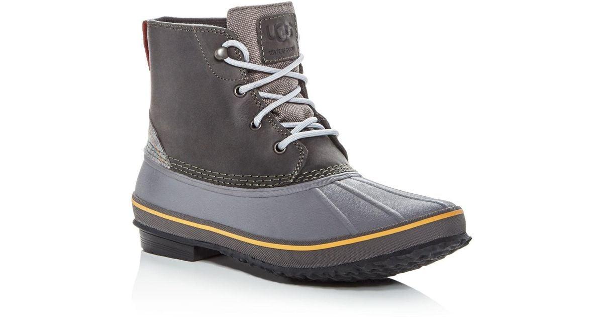 Zetik Waterproof Leather Duck Boots