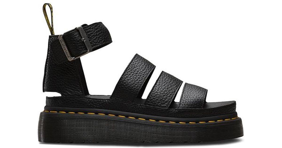 356453a5c4 Dr. Martens Clarissa Ii Quad Platform Sandals in Black - Lyst