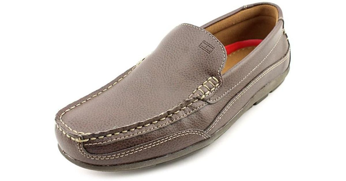 5272b5e5ae77b8 Lyst - Tommy Hilfiger Dathan Round Toe Synthetic Loafer in Brown for Men