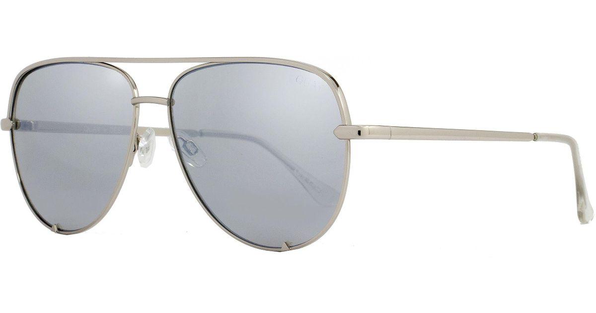 2f51db379e154 Lyst - Quay Aviator Sunglasses Qw000142 High Key Slv-slv Silver 142 in  Metallic