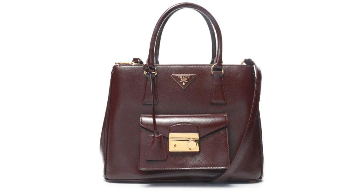 cb26b8c059 Lyst - Prada Leather Handbag in Red