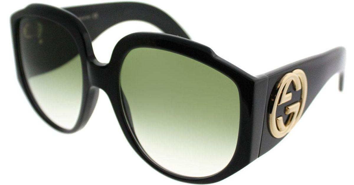 96f205598ce89 Lyst - Gucci GG0151S 001 Black Fashion Sunglasses in Black