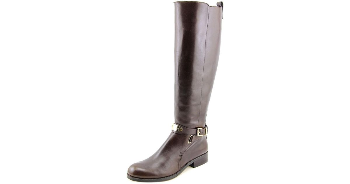 83b38793b22 Lyst - Michael Michael Kors Arley Riding Boot Women Leather Brown Knee High  Boot in Brown
