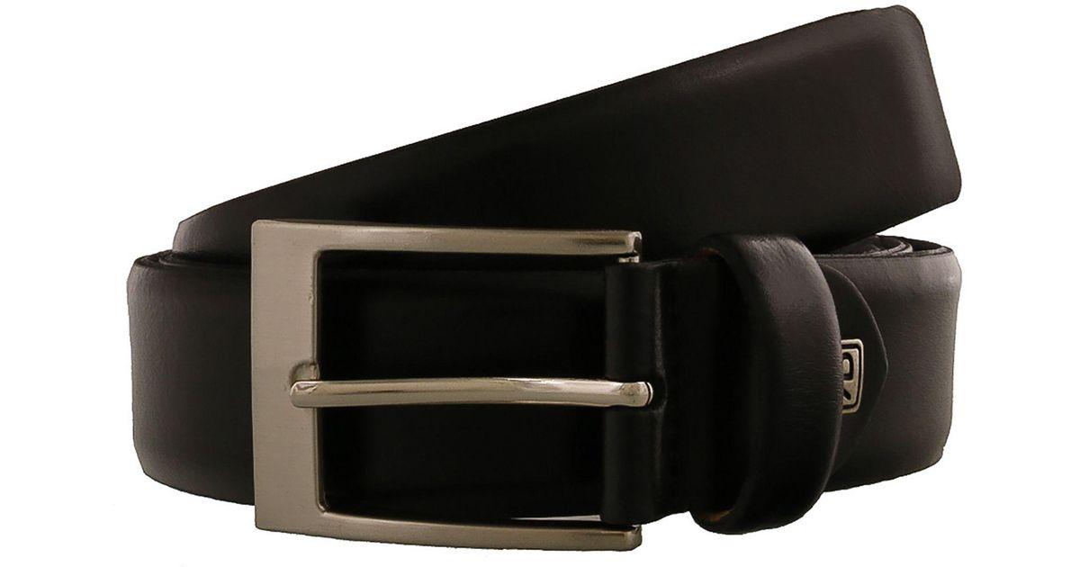 Romeo Gigli C974//35S T.MORO Dark Brown Leather Adjustable Mens Belt