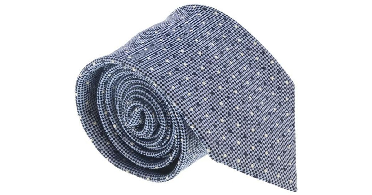 72ad39857 Lyst - Ermenegildo Zegna Purple 100% Silk Dotted Honeycomb Tie in Blue for  Men