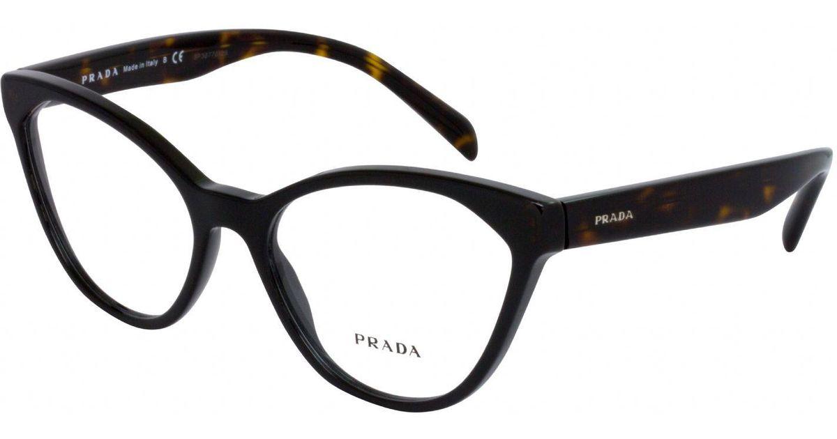 3439015ac99 Lyst - Prada Sport Pr02tv Cat Eye Women Eyeglasses Black demo Lens in Black
