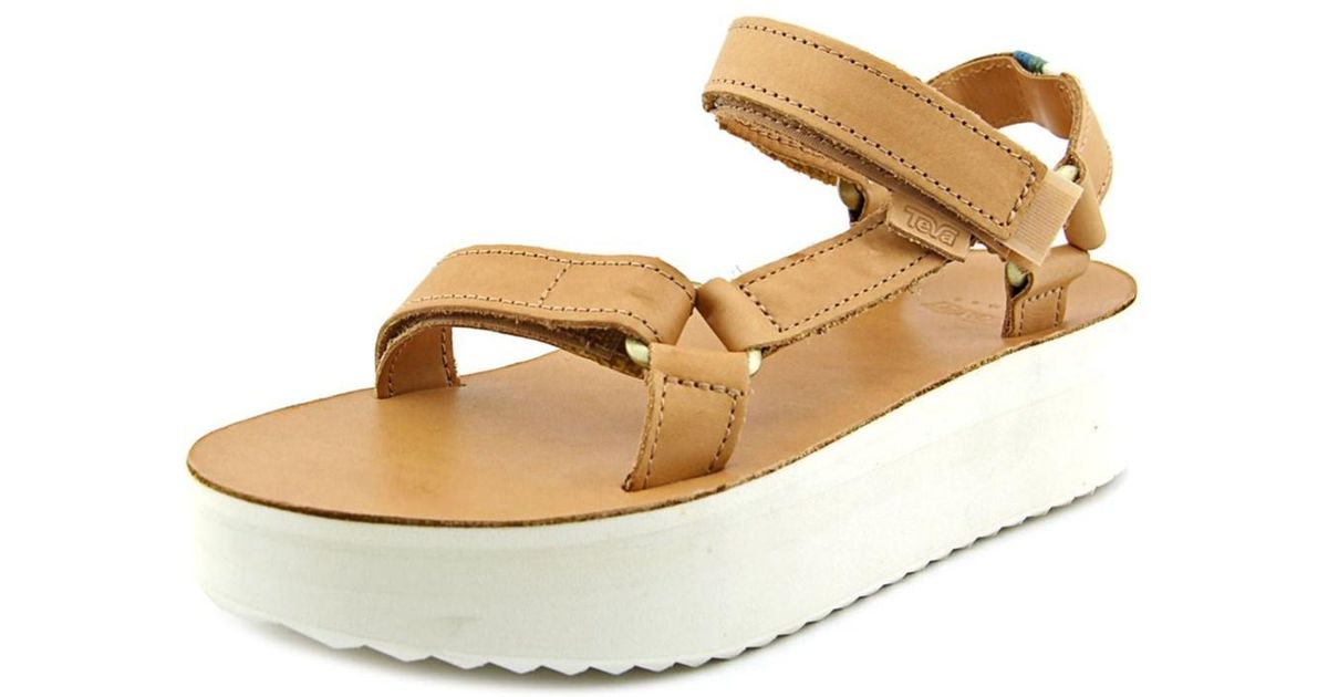 5bd187b4af0 Teva Flatform Universal Women W Open-toe Leather Tan Sport Sandal - Lyst  teva flatform leather
