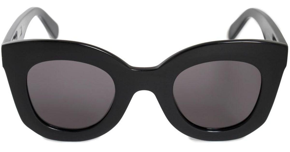 35861b679bca Lyst - Céline Marta Round Sunglasses 41093s 807 Bn 46 in Black