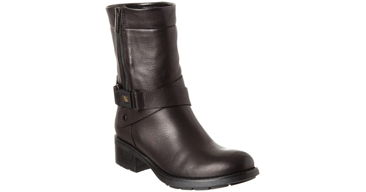 7d1c26f5273a Lyst - Aquatalia Sami Waterproof Leather Boot in Black