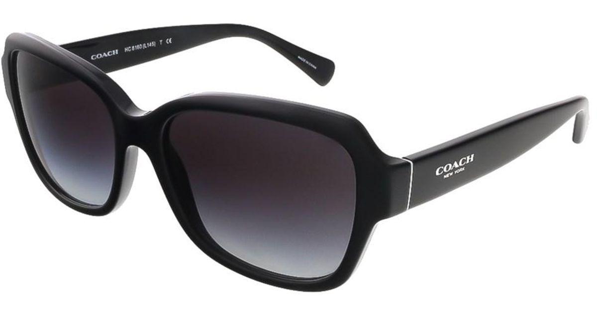 14a9bc7a751e ... germany lyst coach hc8160 500211 black square sunglasses in black 13945  29ced