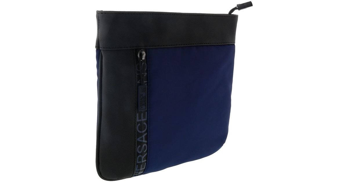 2a2746205308 Lyst - Versace Ee1ysbb32 E240 Prussian Blue Messenger Bag in Blue for Men
