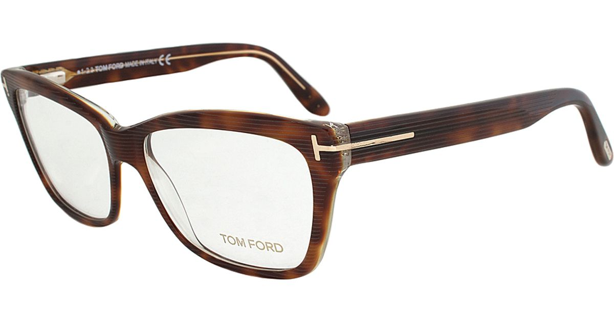 66c20f712bfc Lyst - Tom Ford Ft5301 052 Rectangular Eyeglass Frame in Brown