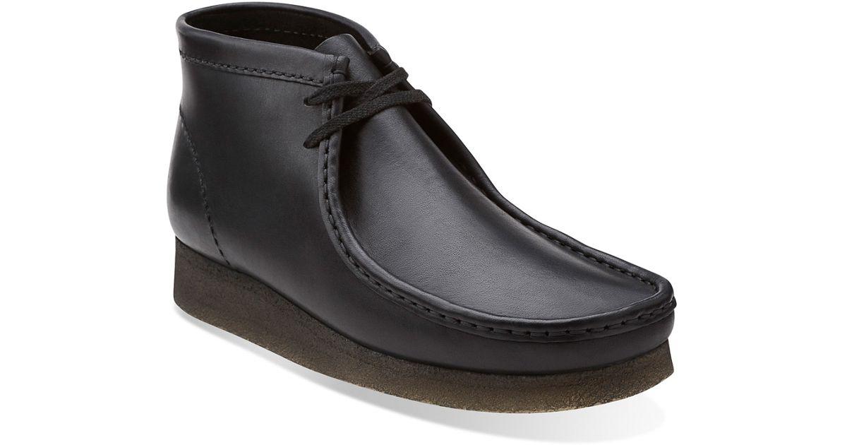 Clarks Men S Wallabee Boot Boots In Black For Men Lyst