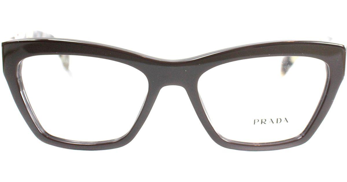 Prada Eyeglass Frames Cateye : Prada Cat-eye Plastic Eyeglasses in Brown Lyst