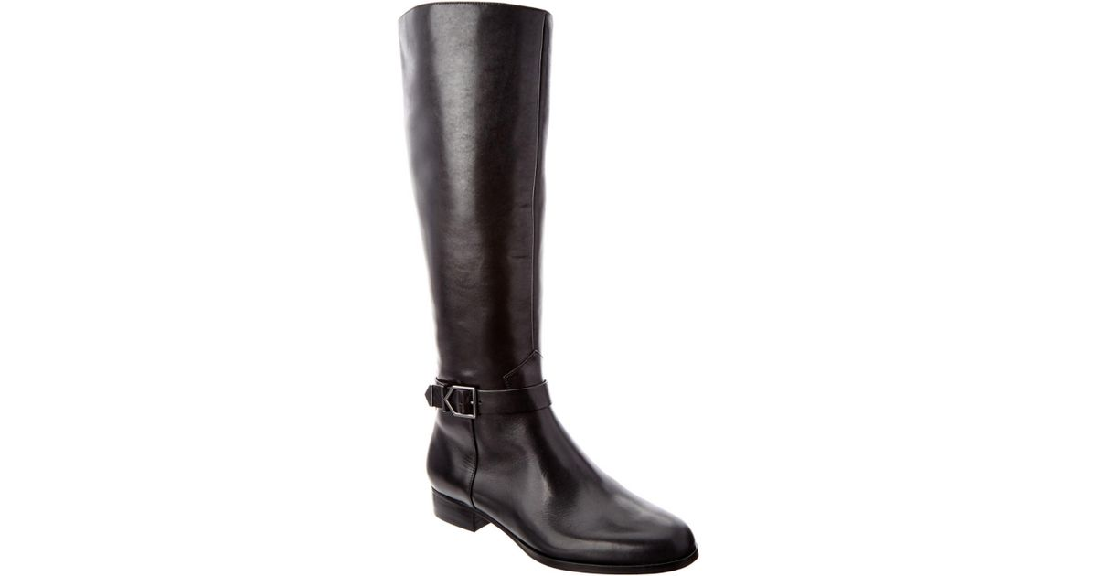 via spiga philippa leather boot in black lyst