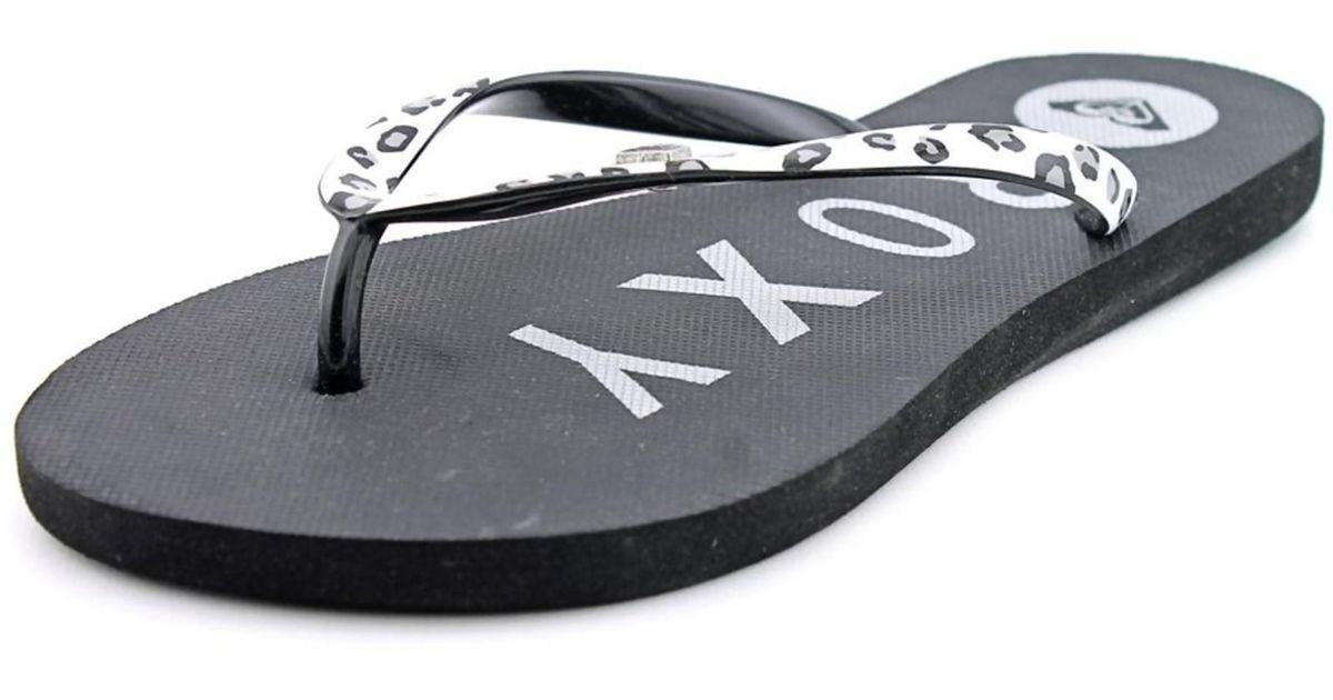 c5687a3dc Lyst - Roxy Mimosa V Open Toe Synthetic Flip Flop Sandal in White