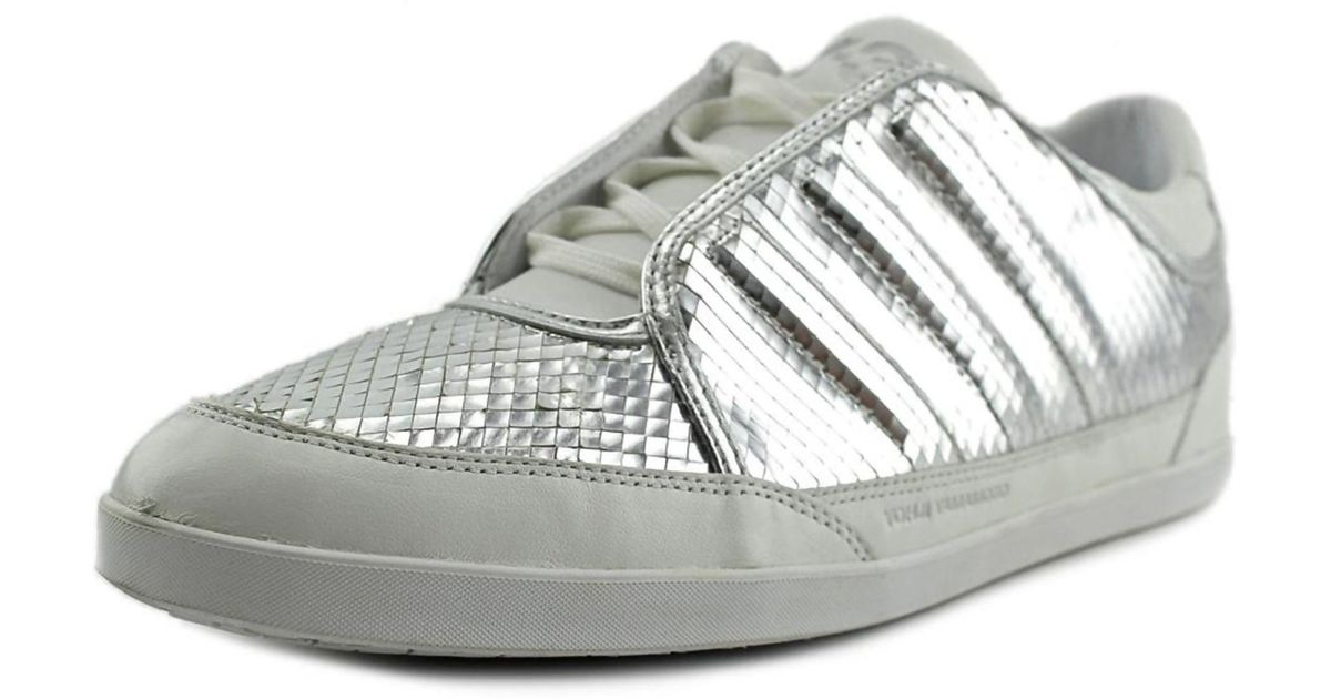 Lyst - Y-3 Honja Low Men Round Toe Leather Sneakers in Metallic for Men 0abe05a8a