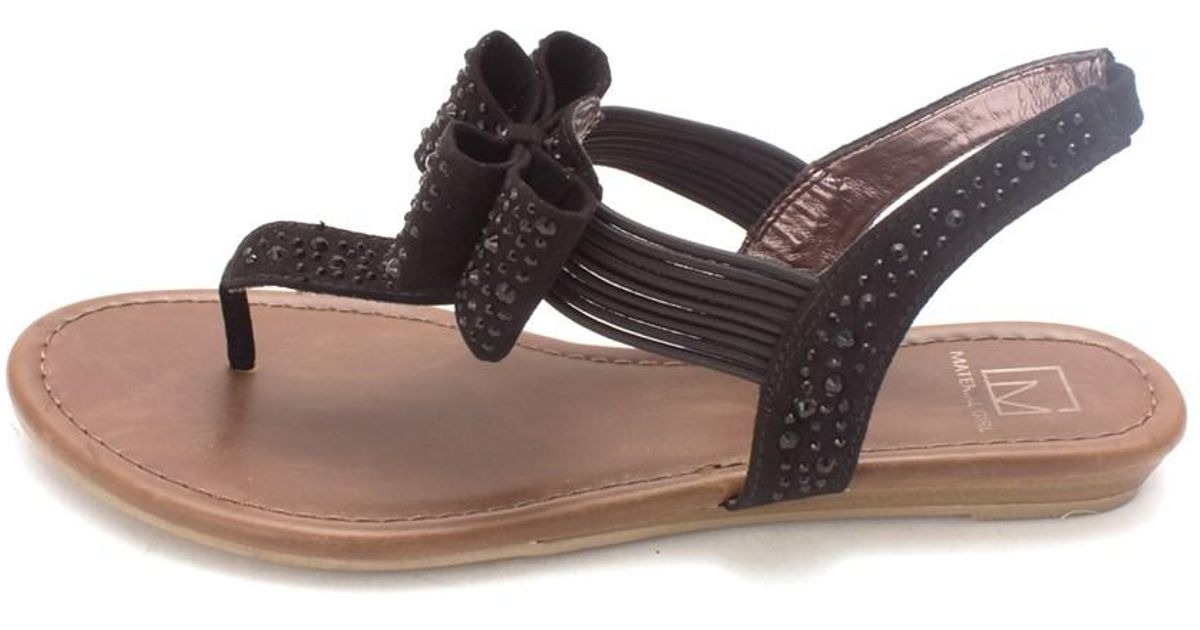 b81211adf0a0 Lyst - Material Girl Womens Shayleen Open Toe Casual T-strap Sandals in  Black