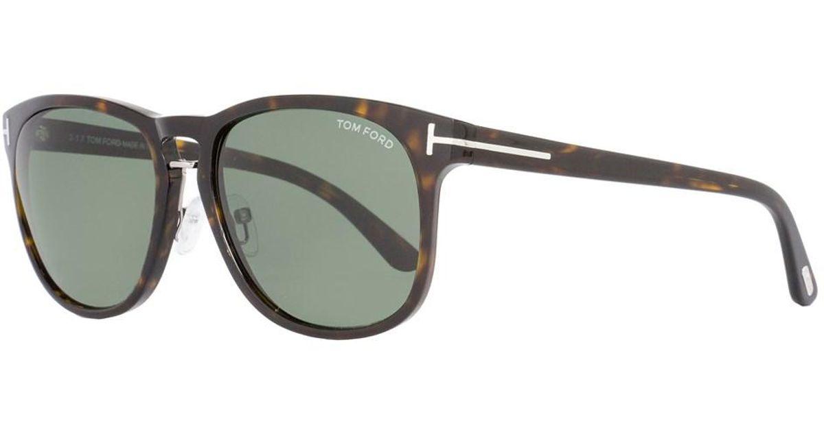 bddd0fbd936 Lyst - Tom Ford Oval Sunglasses Tf346 Franklin 56n Havana Ft0346 for Men