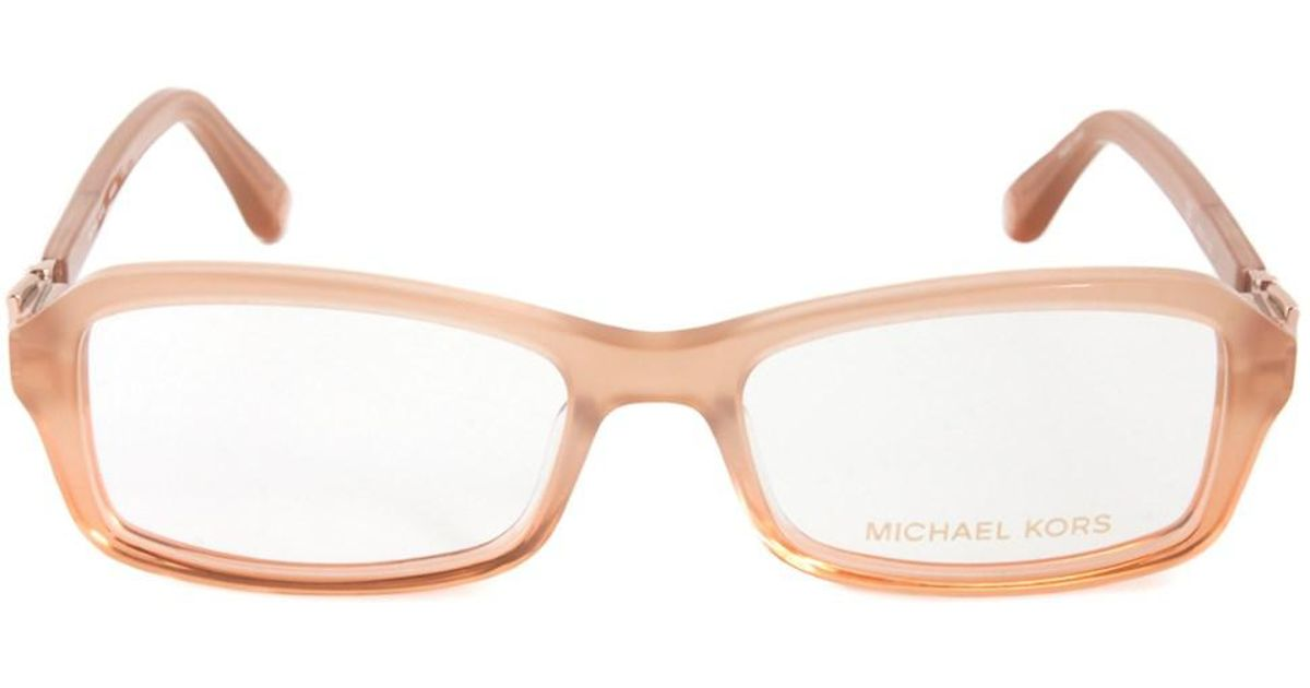 Lyst - Michael Kors Mk868 276 Rectangular | Translucent Peach ...